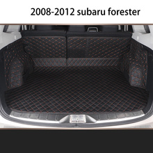 Lsrtw2017 Leather Car Trunk Mat Cargo Liner for Subaru Forester 2008 2009 2010 2011 2012 SH Rug Carpet Interior Accessories for subaru forester 2009 2012 car trunk mat element nlc4608b13
