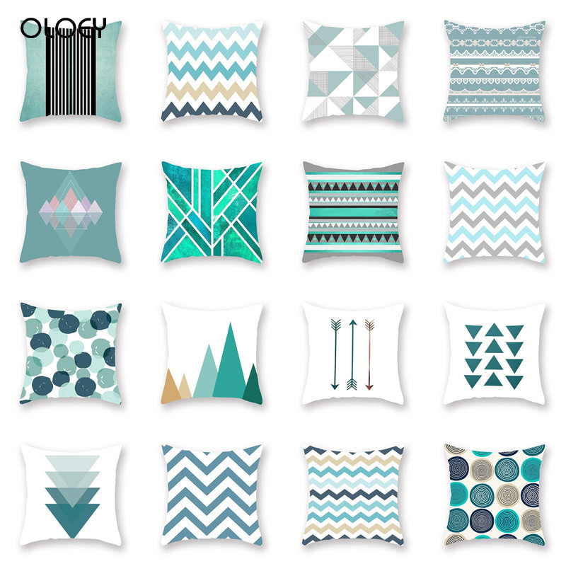 Nordic Style With Geometric Pattern Pillowcase Hug Pillowcase Bedroom Hotel Seat Car Home Decoration Backrest Pillowcase Comfort