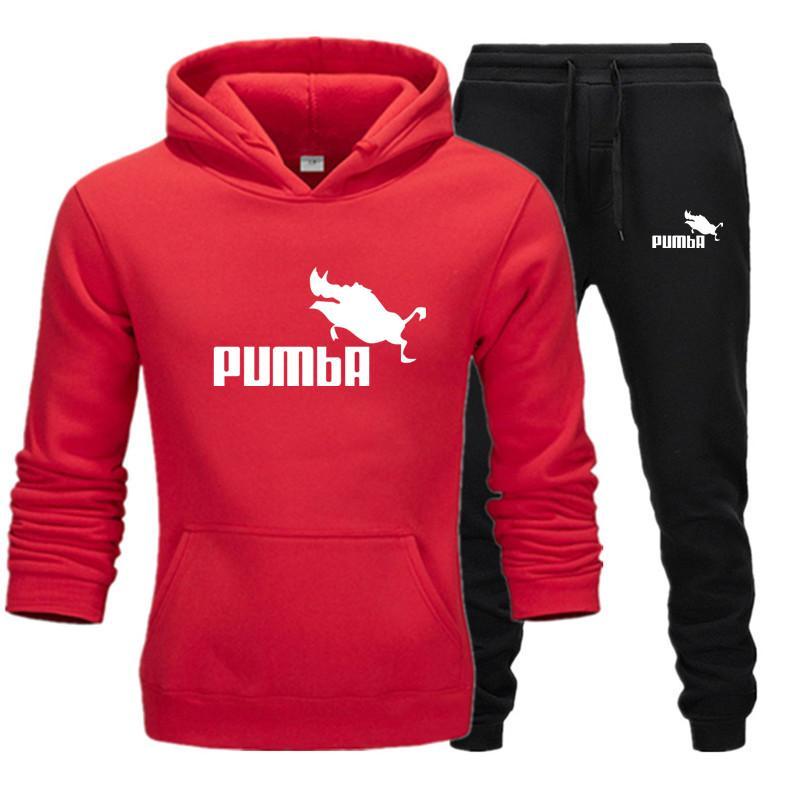 New fashion brand sweatshirt Tracksuit prints thermal Men Sports Sets Fleece Thick hoodie+Pants Sporting jogger suits men Sets