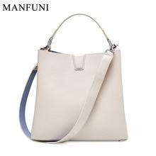 Women Handbags 2019 Genuine Leather Woman Shoulder Messenger Bags Large Shopper Bag Ladies Women Bag Bucket Fashion tote Handbag недорого