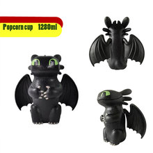 2019 Anime Dragon 3 sans dents pop-corn seau nuit furie poupée jouets cadeau pour enfants adultes Collection(China)