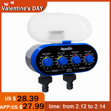 Garden-Irrigation-Controller Ball-Valve Water-Timer Two-Outlet Yard Electronic for -21032