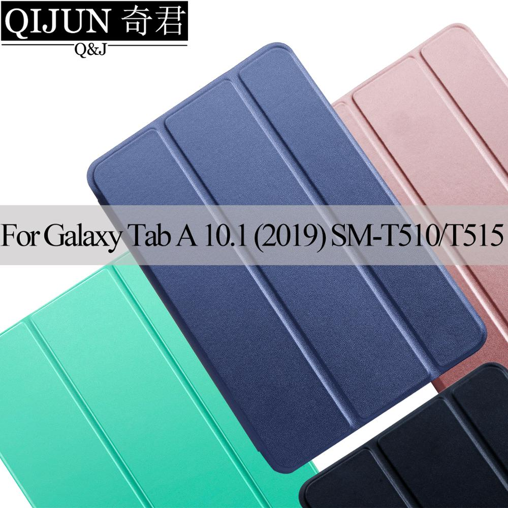 Tablet case for Samsung Galaxy Tab A 10 1inch 2019 PU Leather protection funda Trifold Stand Solid cover capa bag for SM-T510 T515