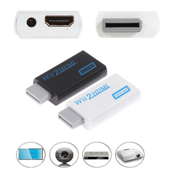 Wii to HDMI Wii2HDMI Full HD FHD 1080P Converter Adapter 3.5mm Audio Output NEW
