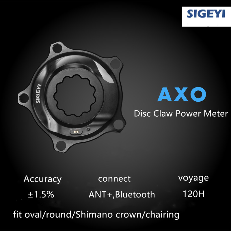 AXO Road Bicycle/bike SIGEYI Power Meter Fit SRAM ROTOR Crank For Shimano 53/39T 52/36T 50/34T Crown Fit Round/Oval Chainring