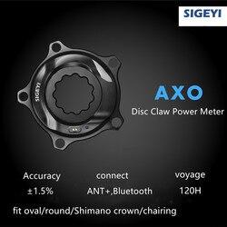 Eje bicicleta de carretera/bicicleta SIGEYI medidor de potencia ajuste SRAM ROTOR Manivela para Shimano 53/39T 52/ 36T 50/34T corona ajuste redondo/ovalado