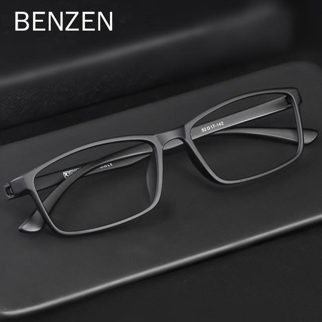 BENZEN באיכות משקפיים מסגרת גברים נשים Ultralight משקפיים אופטיים מסגרת כיכר מרשם משקפיים 5196
