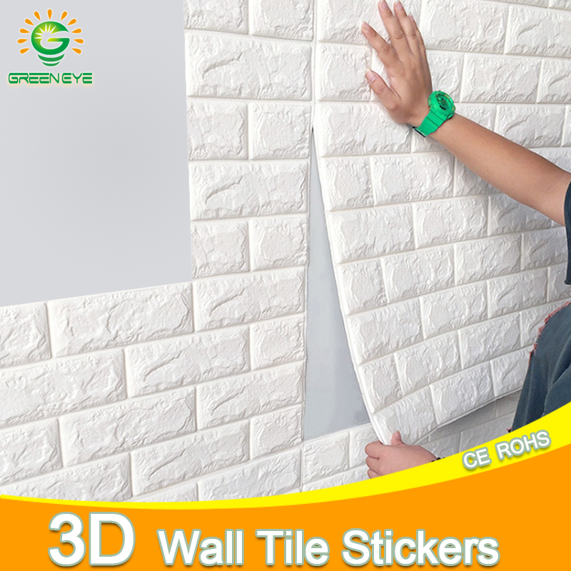 3D наклейки на стену 70*77 см, Самоклеящиеся 3D обои с рисунком кирпича и камня, водонепроницаемая «сделай сам», для детской комнаты