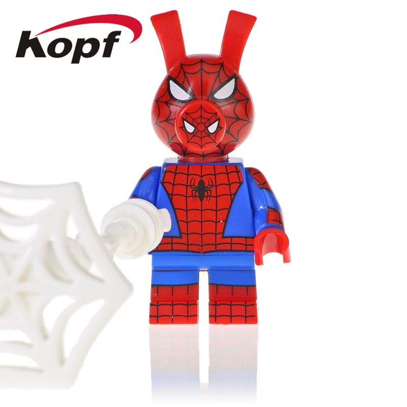 Single Sale Building Blocks Super Heroes Venom Ham Spider-Ham Wolver Black Planther Figures Toys Collection For Children KF1137