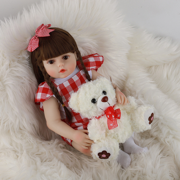 Full Silicone Reborn Baby Doll Toys 48cm Princess Girl Lifelike Alive Bebe Toddler Brinquedos Limited Collection Birthday Gift
