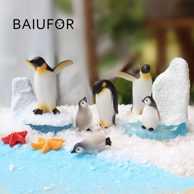 BAIUFOR DIY Mini Penguin Iceberg Seal Model, Winter Figure, Miniature Figurine Toy for Children Gift Birthday Home Decoration 1
