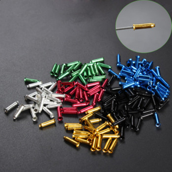 bike line pipe tail cap Variable speed brake wire core cap Aluminum anode color Mountain bike variable speed brake wire core cap image