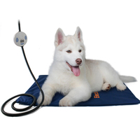 Waterproof Pet Heating Pad 7 Level Adjustable Temperature Electric Warmer Heated Mat for Dogs Cats Chew Resistant Cord 24*18 in