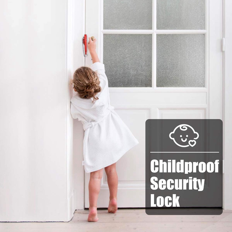 Portable Door Lock,Travel Lock,Security Device Leaving Home Without Loss,Additional Safety Lock From Inside,Used For School,Home