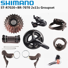 SHIMANO 105 R7000 R7020 R7070 2x11 Speed 170/172.5/175mm 50-34T 52-36T 53-39T Rennrad Fahrrad Kit groupset