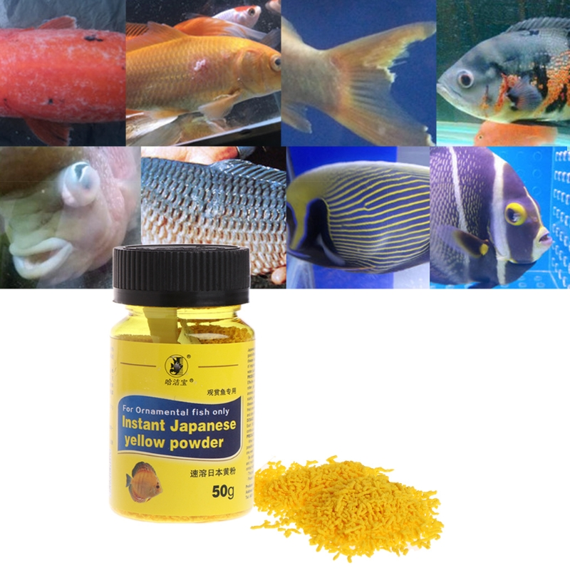 Aquarium Fish Tank 50g Instant Yellow Powder For Ornamental Fish Treat Bacterial  85WC