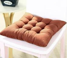 Modern Home Decor Solid Color Thick Brushed Fabric Square Elastic Chair Cushions Seat Cushion Outdoor Car Washable Floor Pillow