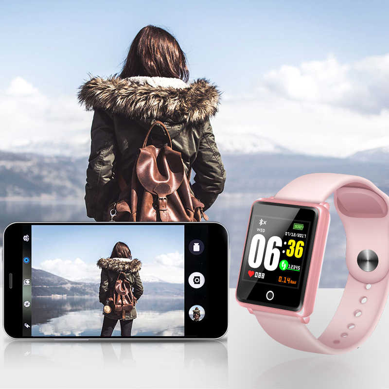 LIGE ساعة ذكية النساء النشاط مقاوم للماء جهاز تعقب للياقة البدنية عداد الخطى ضغط الدم مراقب معدل ضربات القلب الصحة الرياضة smartwatch