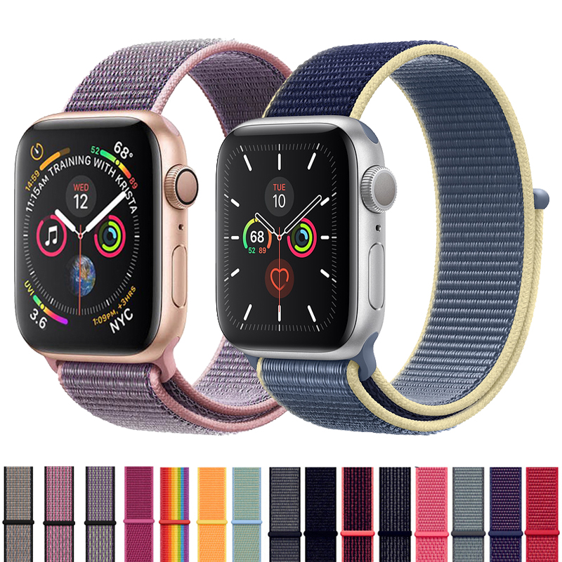 Strap For Apple Watch Band 42mm 38mm 5 4 3 Correa Iwatch Bands 44mm 40mm Sport Loop Bracelet Apple Watch 5 4 Accessories 5/3/2