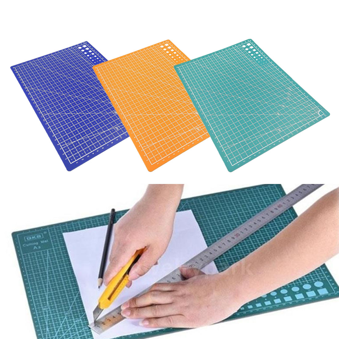 PP Cutting Mat Pad A4 grid line self-healing cutting pad craft card cloth leather cardboard sewing tool Patchwork Cut Pad
