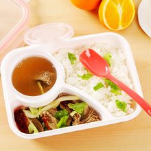 Large 1000ml Capacity Portable Lunch Box With a soup bowl Microwave Oven Bowl Bento Box To prevent leakage Food Storage Lunchbox large capacity microwave lunch box with spoon