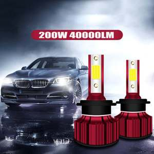 2x 200W 40000LM Car LED Headli