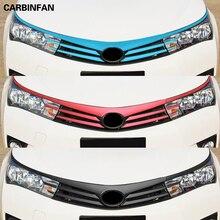 Аксессуары для автостайлинга красочные решетки гриль наклейки из углеродного волокна и наклейки 11 шт./компл. для Toyota Corolla
