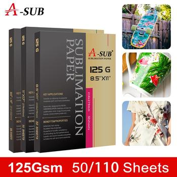 A-SUB Sublimation Paper For Any Inkjet Printer With Sublimation Ink 110 Sheets Letter Size
