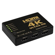 Hdmi Switch 5 In 1 Out Hdmi 5 In 1 Out Switch 4k 1 Input 5 Output HUB with IR Remote