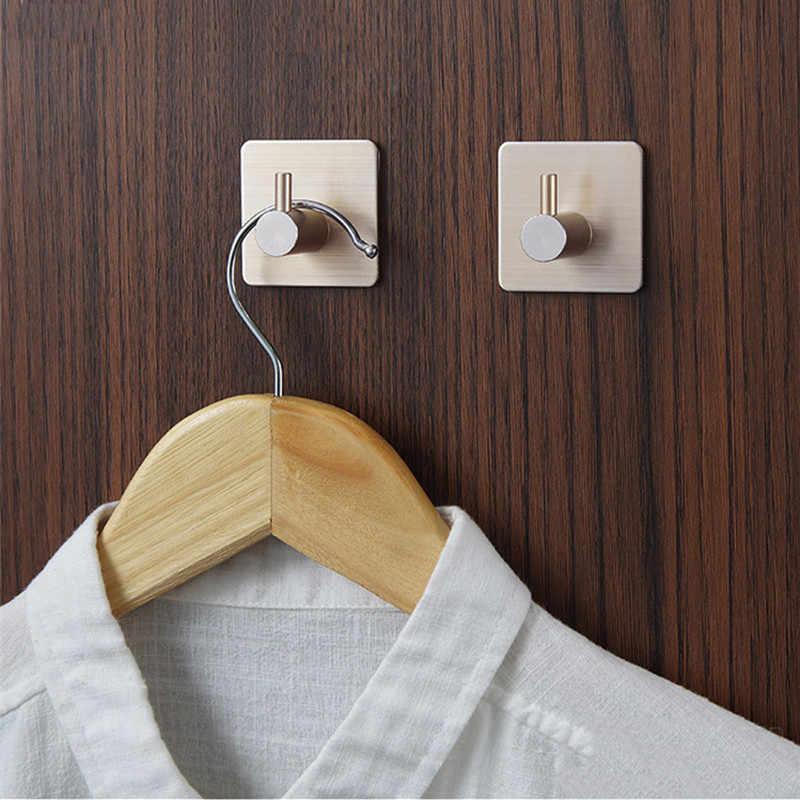 Autoadhesivo hogar cocina pared gancho llave titular perchero toalla colgador baño ganchos aluminio