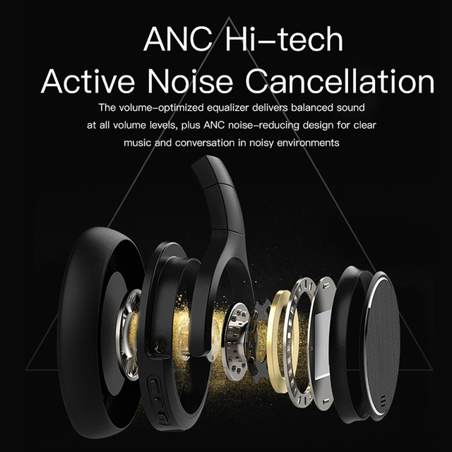 Awei A950BL Bluetooth V4.1 Active Noise Cancellation Headphones 2