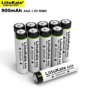 Image 2 - 4PCS Original LiitoKala 1.2V AAA 900mAh NiMH Rechargeable Battery for Flashlight, Toys,Remote control