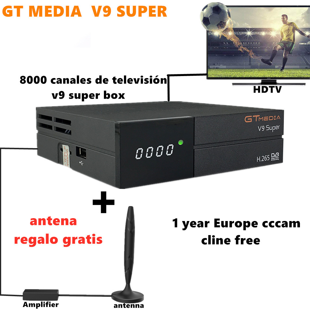 2020 GTmedia V9 Super Satellite TV Receiver FREE Antenna 8000 TV channels Built in <font><b>Wifi</b></font> Full HD <font><b>DVB</b></font>-S2 Europe Cline 1 year free image
