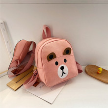 2021 Cartoon Bear school bag child Small Canvas children