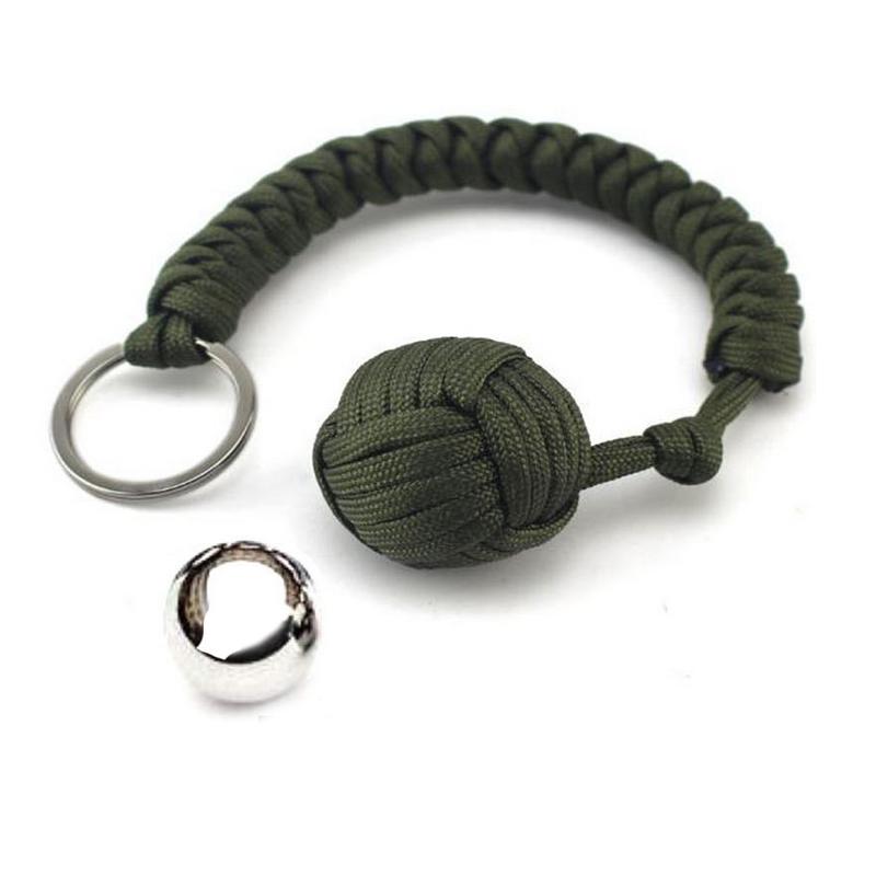 Защита на открытом воздухе, кулак черной обезьяны, стальной шар для девочки, несущий шнур для самообороны, брелок для ключей выживания, сломанные окна