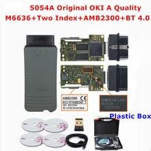 2021 5054a chip completo oki carro scanner de diagnóstico 5054a v5.1.6 bluetooth 5054 wifi 6154 oki 5.1.6 interface leitor de código