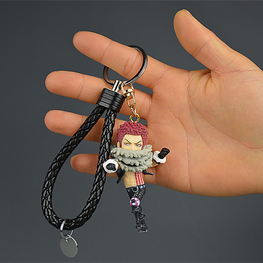 <font><b>One</b></font> <font><b>Piece</b></font> <font><b>Katakuri</b></font> Anime Action <font><b>Figure</b></font> Key Chain PVC <font><b>Figures</b></font> Keyring s Keychain Keyholder Unisex Gifts NEW image