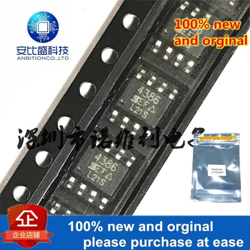 10pcs 100% New And Orginal SI4386DY-T1-E3 SOP-8 SI4386 N 4386 30V 11A MOS In Stock