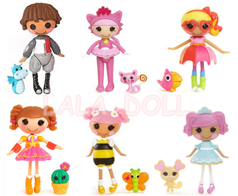 Lalaloopsy Dolls With The Accessories, Mini Dolls For Girl's Toy Playhouse Each Unique