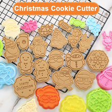 Plunger Cutters Cake-Mold Cake-Decorating-Tools Biscuit Fondant Christmas Cookie Sugarcraft