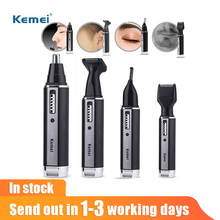 Kemei Nose Ear Hair Trimmer 4 in 1 Men Clipper Rechargeable beard Eyebrow Razor Face Shaver hair Removal Trimmer For Nose