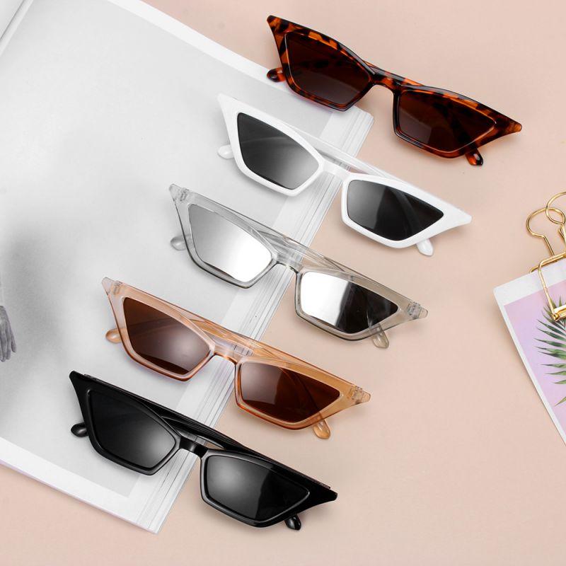 Gafas de sol de moda Vintage para mujer, gafas de sol de ojo de gato con montura pequeña UV400, gafas de calle, gafas de sol de lujo a la moda