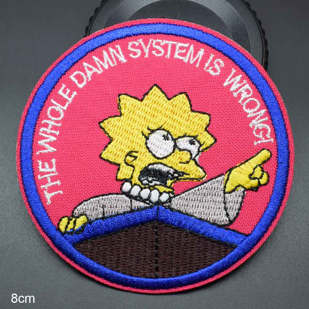 """The Simpsons /""""Springfield Choppers/"""" Embroidered patch New"""