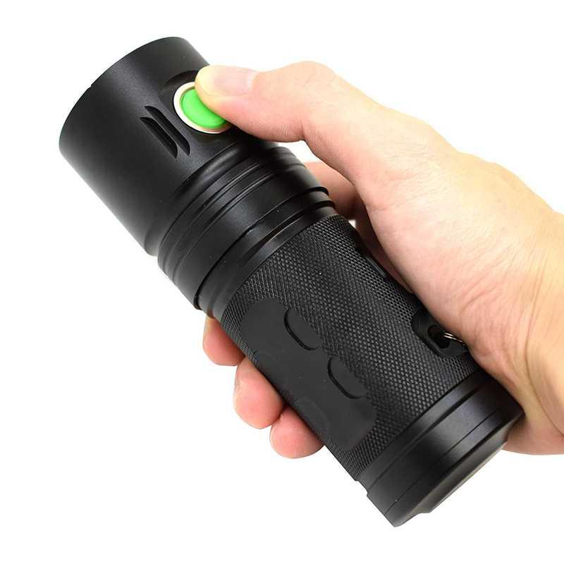 Wasafire XHP70 LED rechargeable par usb lampe de poche 18650 3 Modes lampe torche étanche 3500 Lumens éclairage extérieur Flash