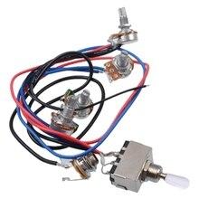 Lp звукосниматель для электрогитары комплект жгута проводов 2T2V 500K Горшки 3 позиционный переключатель с разъемом для двойной хамбакер Les Pual Стиль Gui