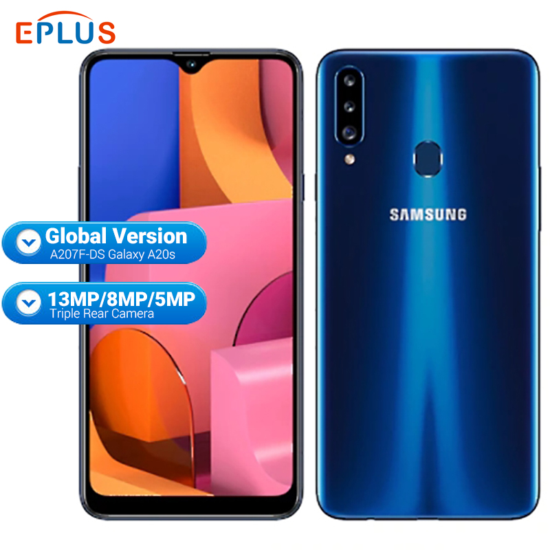 Global Samsung Galaxy A20S A207F/DS Mobile Phone 3GB RAM 32GB ROM 4000mAh Snapdragon Octa Core 6.5
