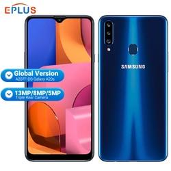Перейти на Алиэкспресс и купить global samsung galaxy a20s a207f/ds mobile phone 3gb ram 32gb rom 4000mah snapdragon octa core 6.5дюйм. 13mp triple camera 4g phone