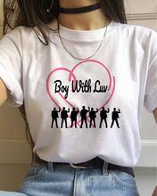 Летняя футболка k pop женская двойная большие размеры футболки