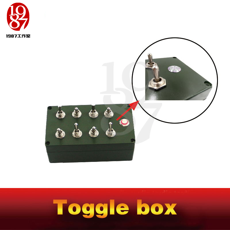Image 3 - Room escape props toggle box real life chamber game all toggles in right directions to unlock escape takagism game jxkj1987-in Alarm System Kits from Security & Protection