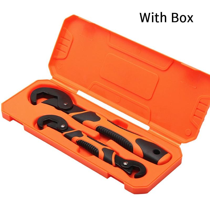 2pcs Universal Wrench Set 9-32mm Keys Multi-Function Adjustable Portable Torque Ratchet Oil Filter Spanner Hand Hardware Tools